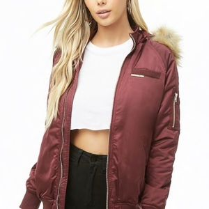 Member Only Faux Fur lined Bomber Jacket